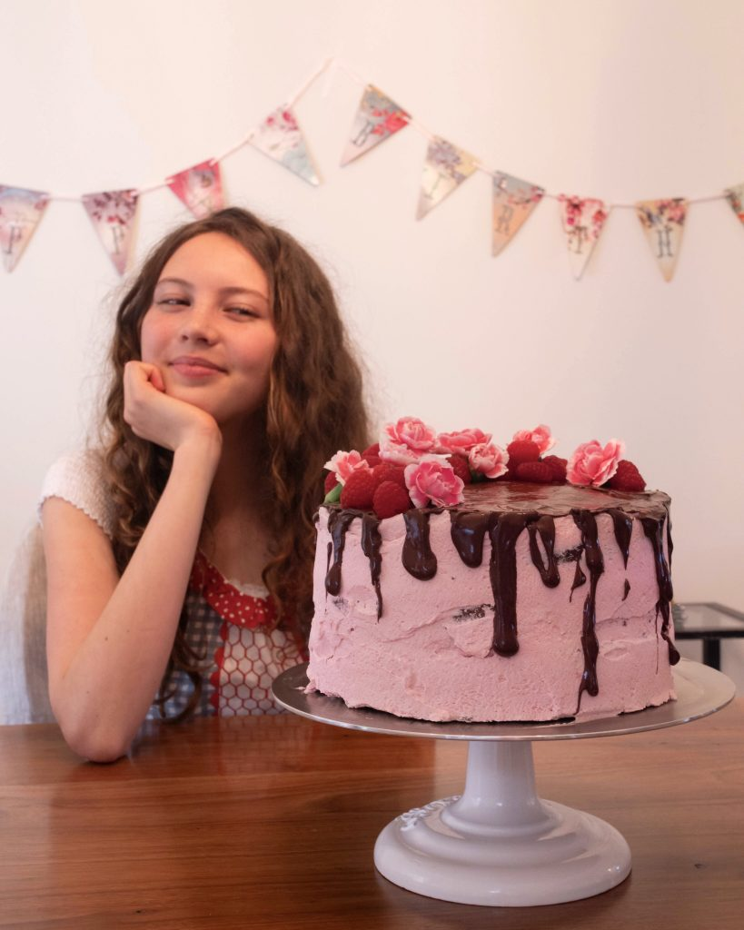 Admirable 3 Layer Chocolate Raspberry Cake Whole Girl Whole Girl Personalised Birthday Cards Arneslily Jamesorg